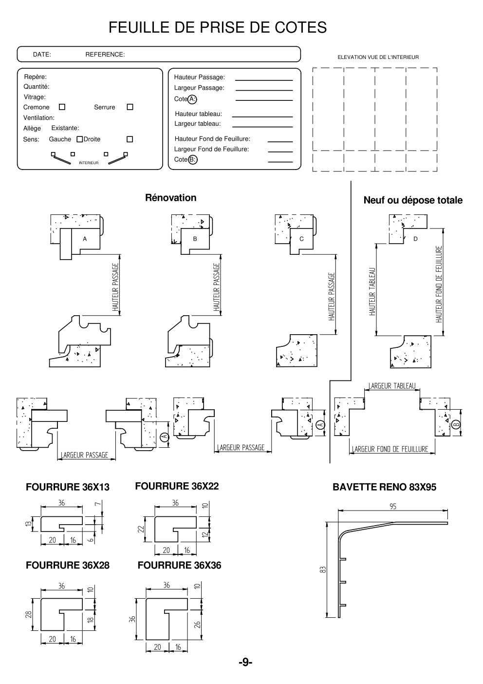 avm menuiserie gamme bois. Black Bedroom Furniture Sets. Home Design Ideas