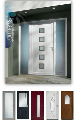 Porte entrée PVC Zendoor 5
