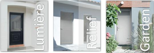 Porte entrée PVC Zendoor